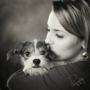 Black and white pet portraits
